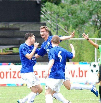 Johan Hammar efter sitt mål mot mexikanska Club América
